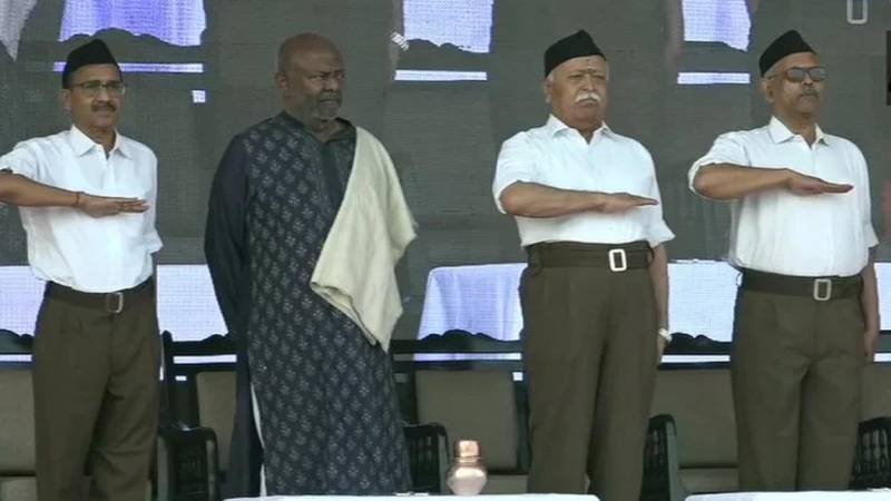 RSS Vijay Dashmi 2019 Path Sanchalan March Nagpur Mohan Bhagwat