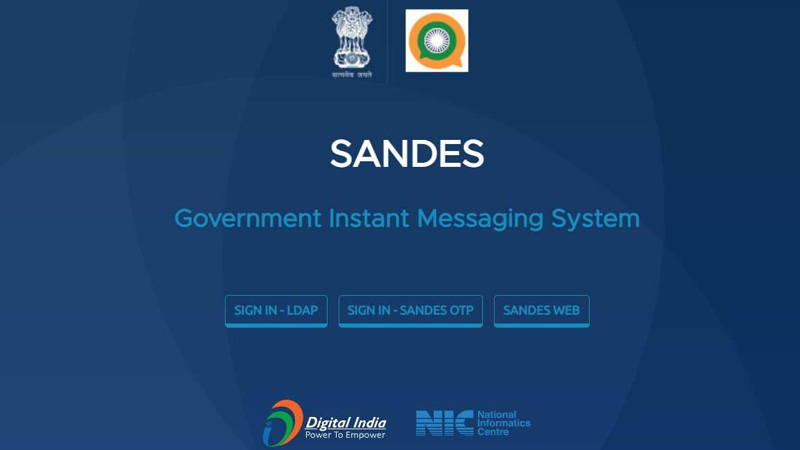 government launches instant messaging app called sandes