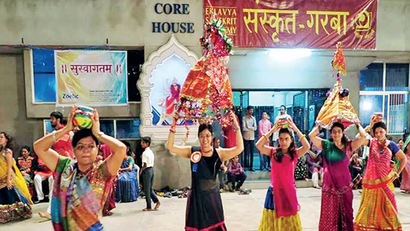 One place where Sanskrit Garba is played