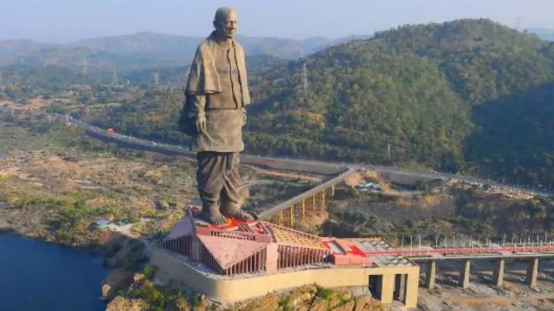 foreign tourists Statue of Unity international flight services Vadodara