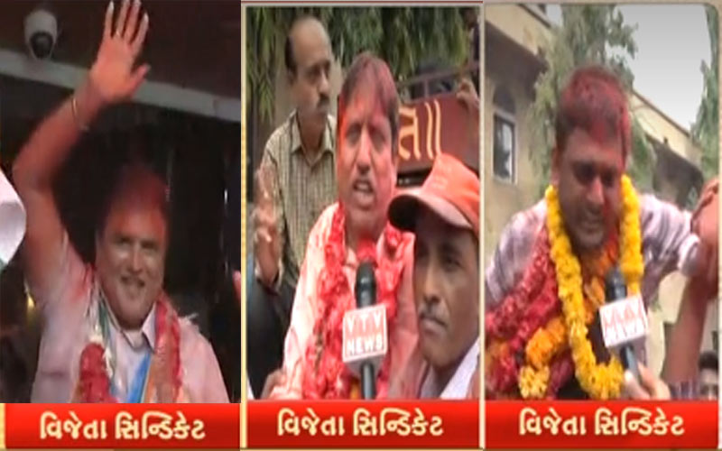 Gujarat University syndicate election results declared bjp congress