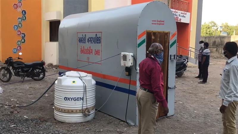 coronavirus in Gujarat innovation sentization machine