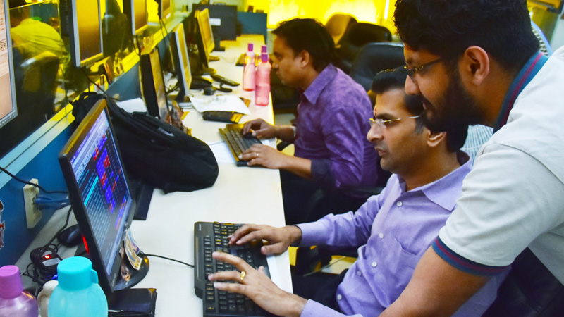 Nifty and Sensex Goes Down Due to   Corona Effect on Monday