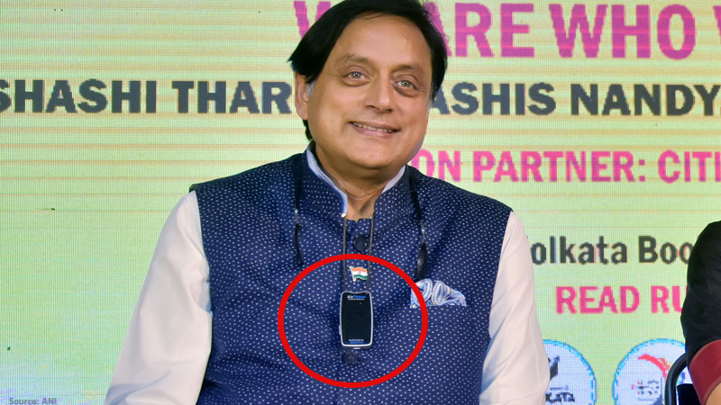 shashi tharoor wearable air purifier rechargeable