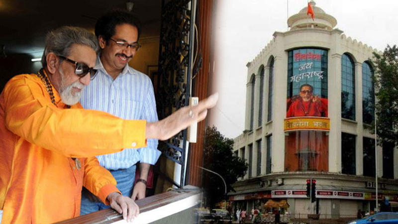 Maharashtra Matoshri Uddhav Thackeray Shiv Sena party leaders saluting