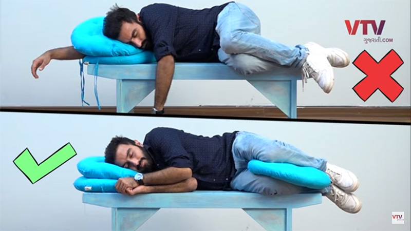 know the true positions of body while sitting, standing and sleeping
