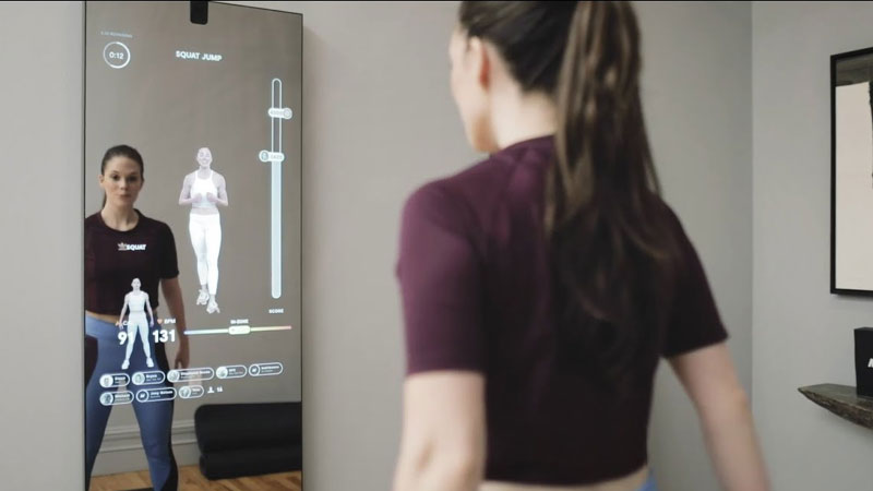 smart mirror will work as a personal fitness trainer give yoga and strength workout