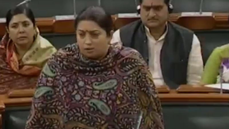 smriti irani attacks opposition hyderabad rape issue women issue