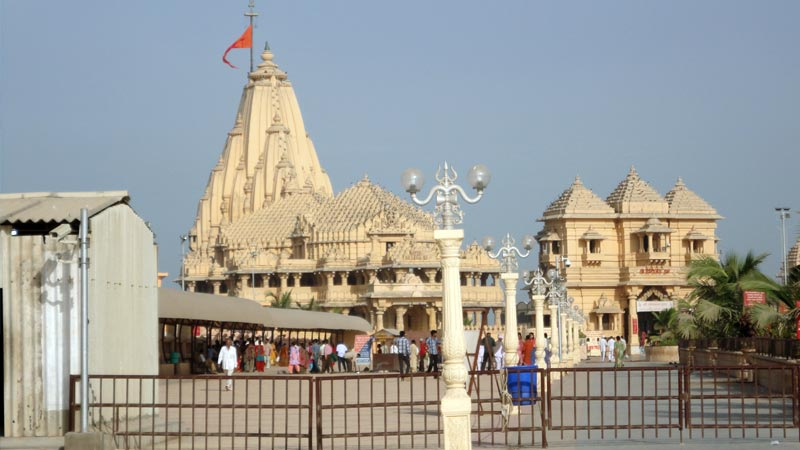 somnath temple kalash gold