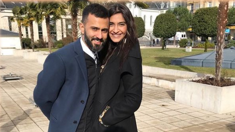 Sonam kapoor shares photos with a newest member of the kapoor family