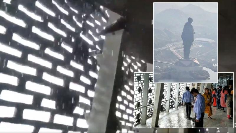 CEO gave feedback on water drips from ceiling at statue of unity