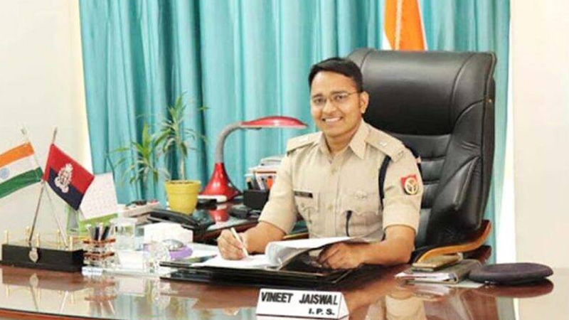 hathras new sp ips vineet jaiswal once his dance video on sapna choudhary song went viral