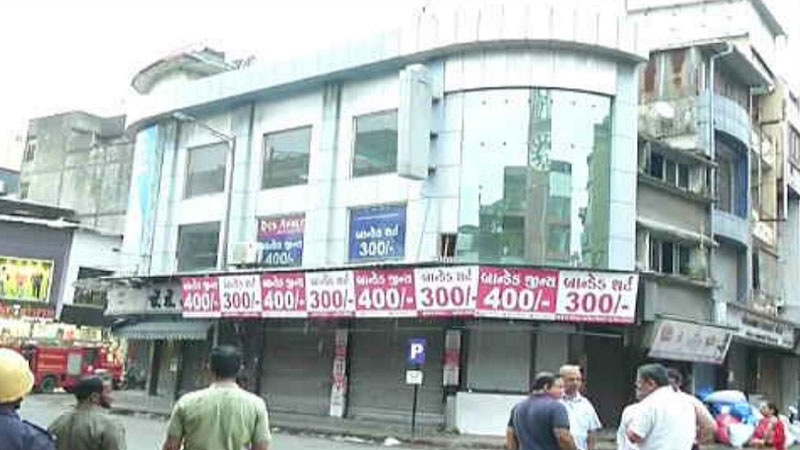Surat Damaged building Commercial residential department
