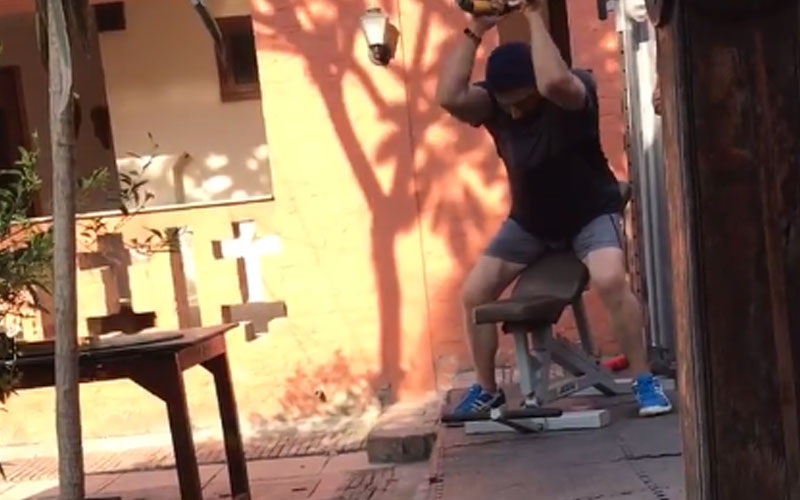 sunny deol video posted by fathed dharmendra gym in gurdaspur