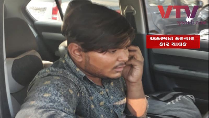 Surat hit and run case accident caught in CCTV
