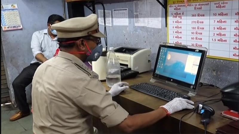 coronavirus in Gujarat surat police token system for citizen