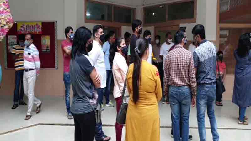 Surat school fees student online group parents