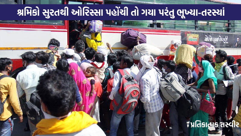 First batch of migrants from Surat reach Odisha