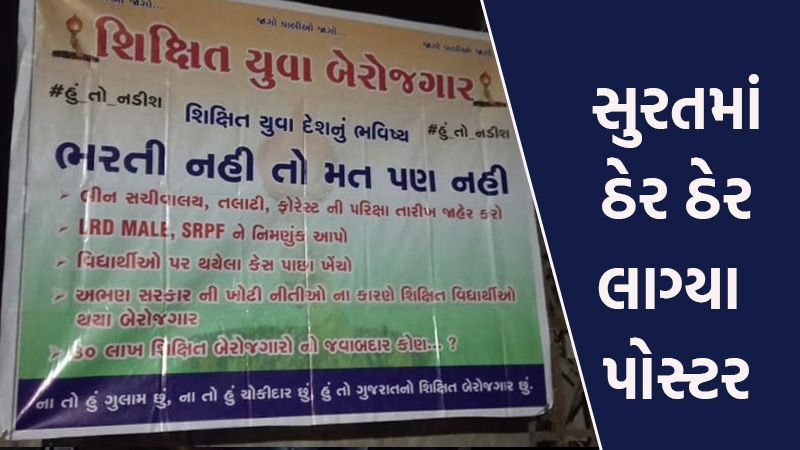 gujarat local body election 2021 recruitment poster