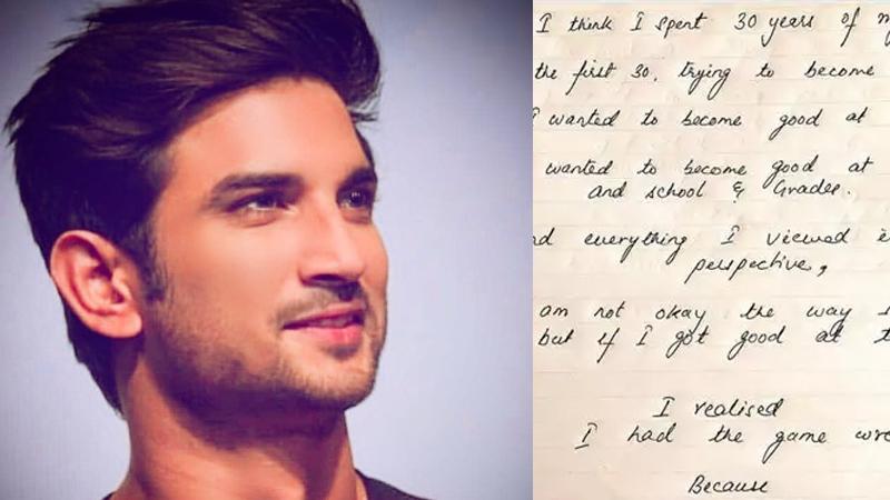 sushant Singh Rajput Sister Shweta Singh Kirti Shares His Hand Written Post