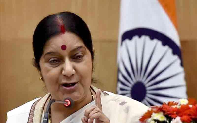 Leave Tripoli immediately says Sushma Swaraj