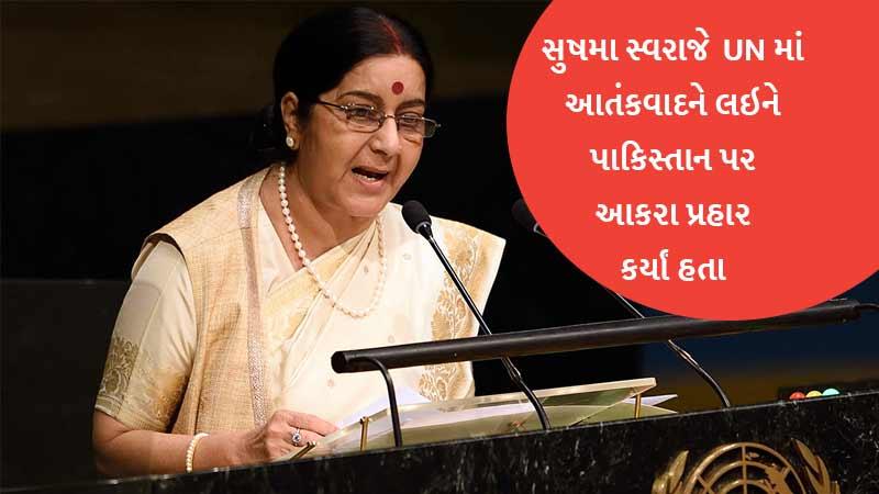 Sushma Swaraj Attack Pakistan in United Nations