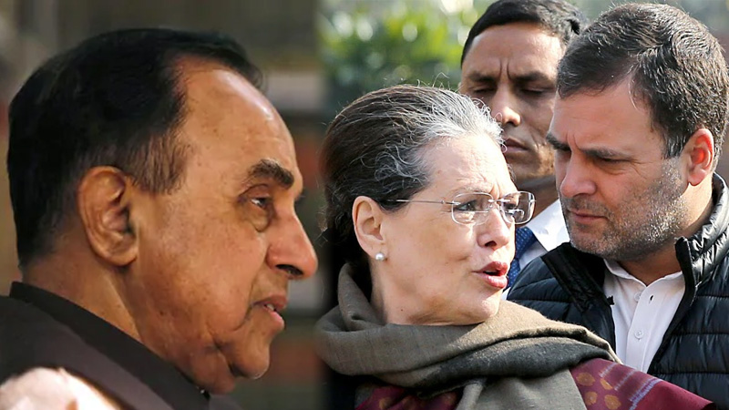 National herald case subramanian swamy delaying proceedings sonia and rahul gandhi tell court