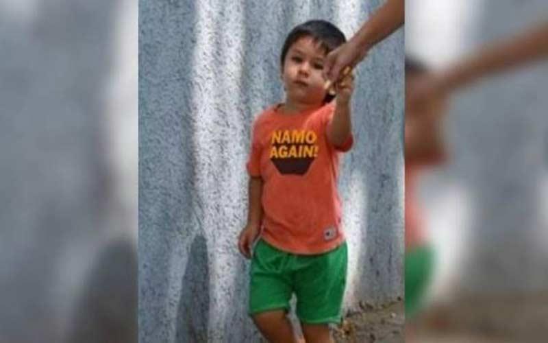 taimur ali khan wore namo again tshirt photo went viral
