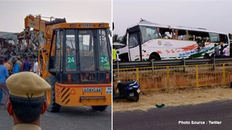20 dead in Tamil Nadu road accident as Kerala-bound bus