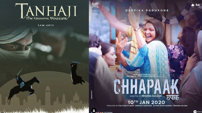 Chhapak and Tanaji 5 day box office collection analysis