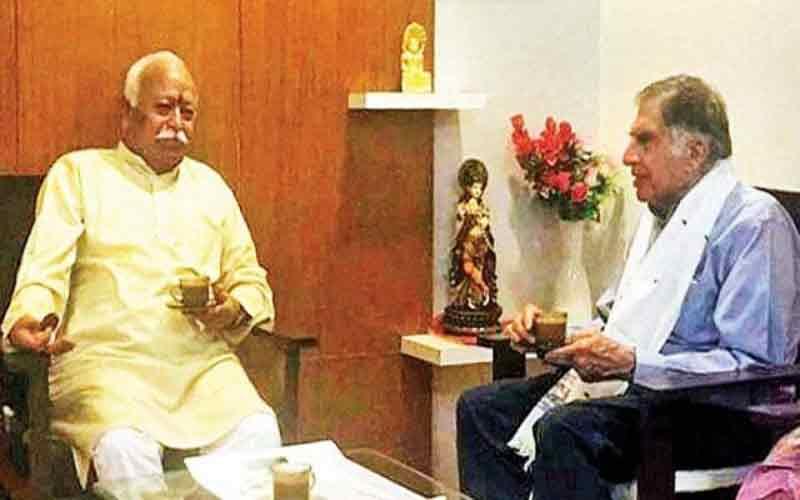 Ratan Tata Meet RSS Chief Mohan Bhagwat In Nagpur