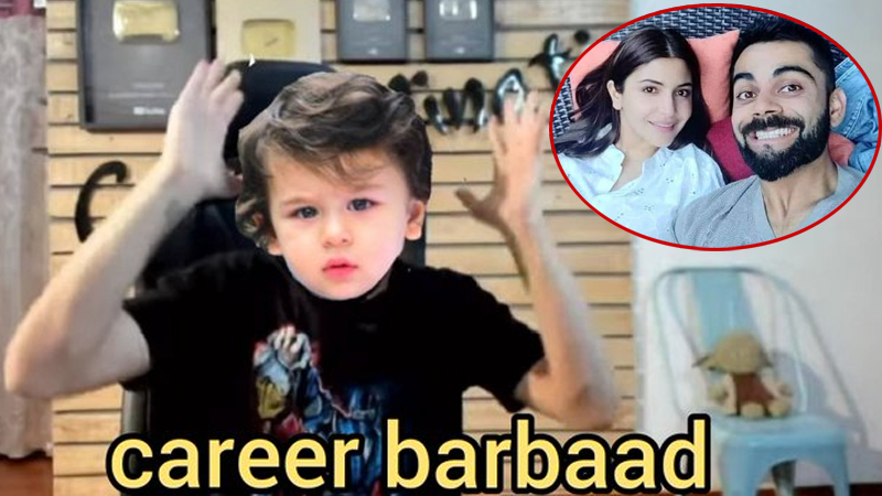 After Anushka Sharma became mother now people start sharing funny memes on taimur ali khan