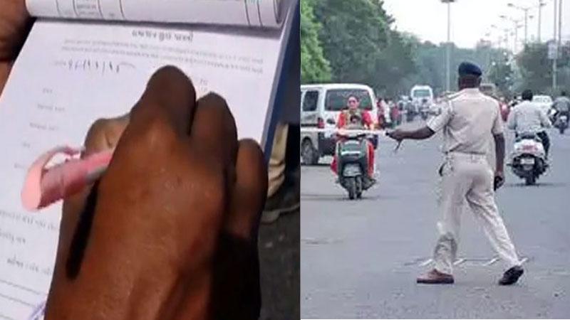 Surat Traffic Police Schoo parents