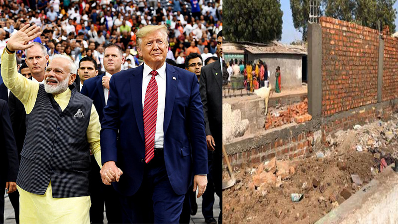 India hide poverty from american president trump
