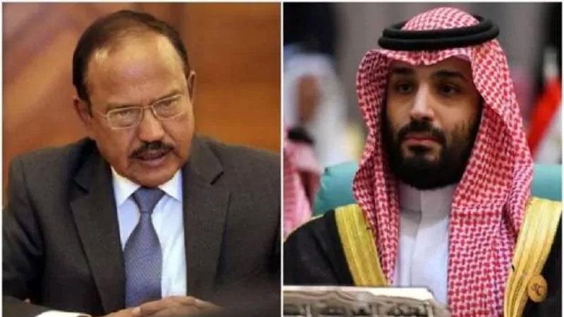NSA Ajit Doval Meet Saudi Crown Prince mohammad bin salman