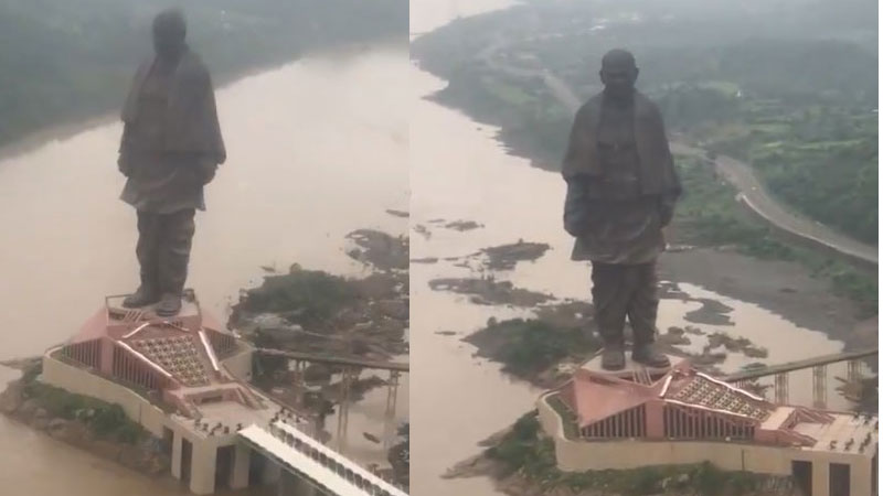 look at the majestic Statue of Unity Indias tribute to the great Sardar Patel pm modi on his birthday