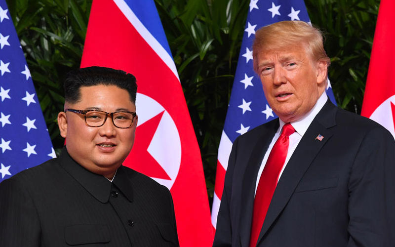 american president donald trump meets kim jong un in north korea