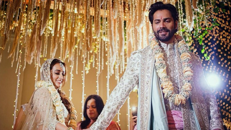 varun dhawan natasha dalal wedding first photo