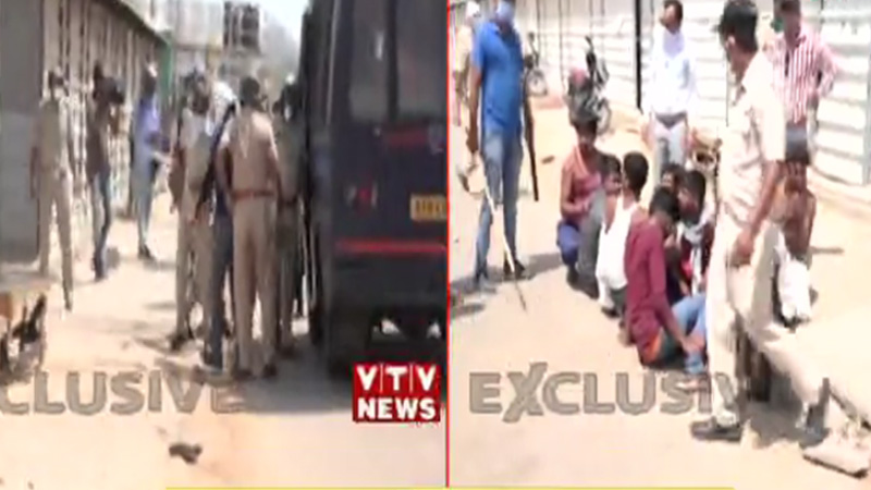 ahmedabad migrant worker and police attack
