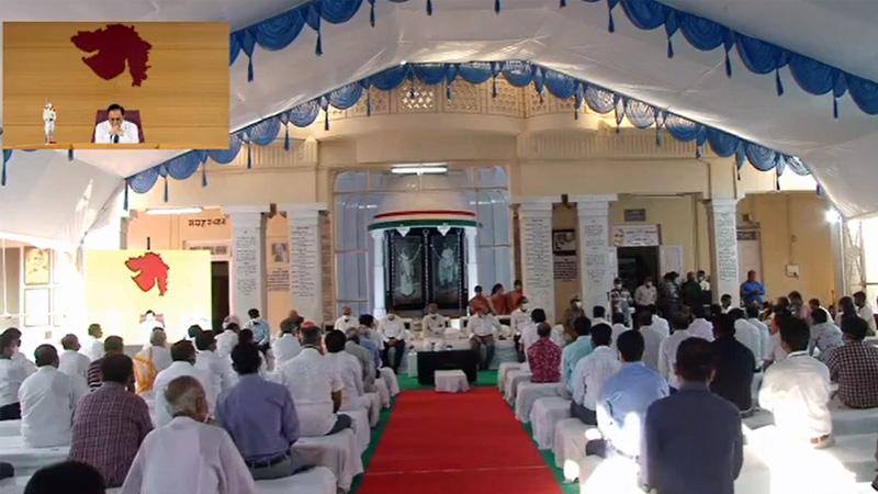 porbandar kirtimandir prathana sabha CM Vijay Rupani video conference