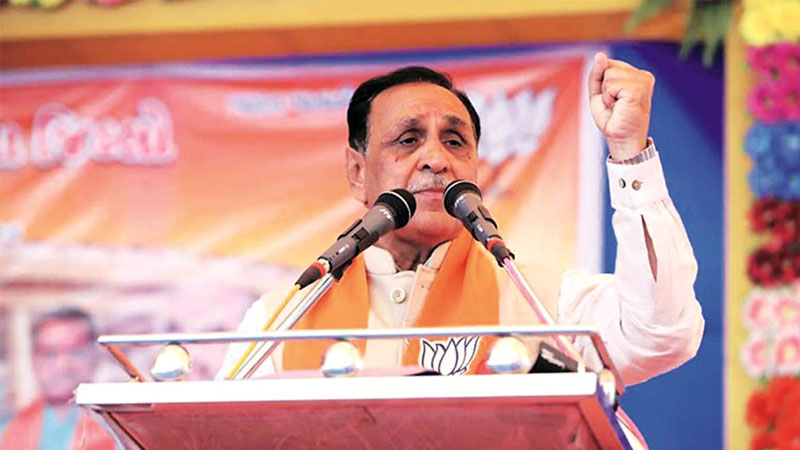 Cm vijay rupani in mumbai for  assembly election