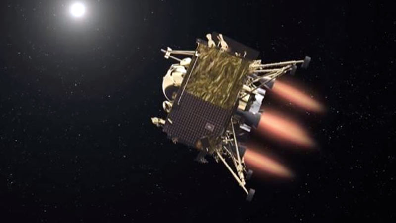 chandrayaan 2 not failed lander goes silent but orbiter is where the Moon mission