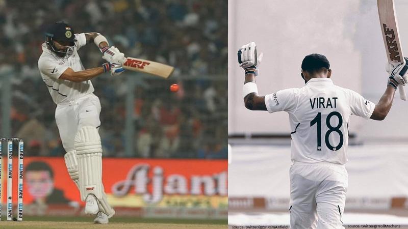 pink ball test virat kohli century in day night test surpass ricky ponting as test captain