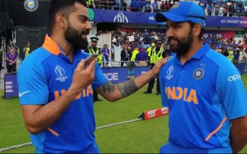 when virat kohli took rohit sharma interview