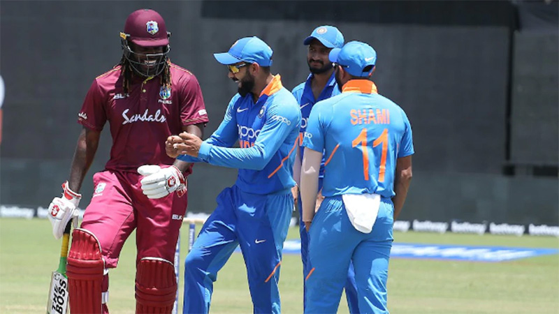chris gayle virat kohli dance india vs west indies guyana odi match 1st odi