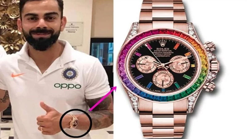 virat kohli luxury watch price is 69 lakhs and 12 thousands