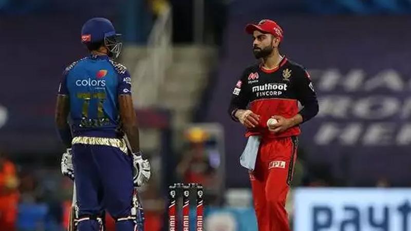 virat kohli and suryakumar yadav exchange stares in match