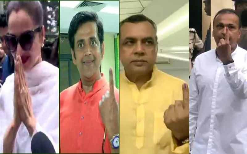 મહારાષ્ટ્રની 17 બેઠક પર મતદાન, મુંબઇમાં ગુજરાતીઓએ કર્યું મતદાન