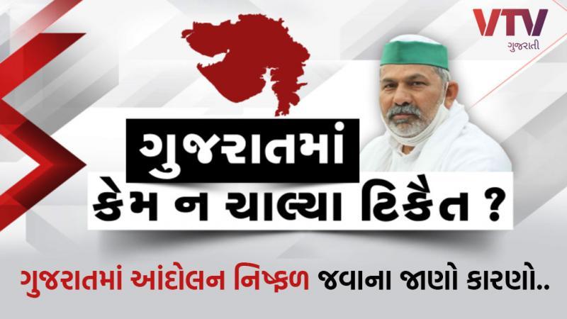 farmers protest Rakesh Tikait Flop show Gujarat