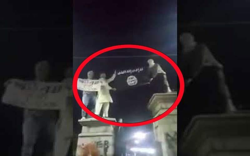 શ્રીનગર: જામિયા મસ્જિદની બહાર ISISના ઝંડો લહેરાવતા લોકોનો VIDEO વાયરલ
